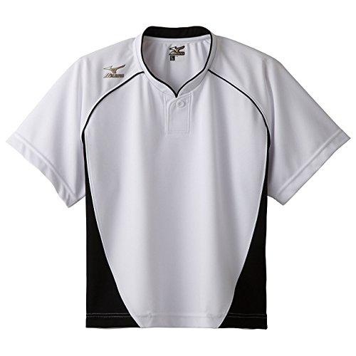 ミズノ グローバルエリート ベースボールシャツ ハーフボタン 小衿 レディース 半袖 12JC6L70