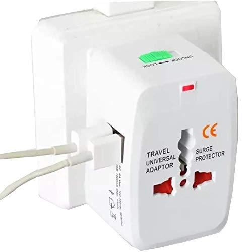 XIAOFEI 2 Adaptador Corriente USB Accesorios para TeléFonos MóViles EléCtricos Adaptador Enchufe Universal, Juguete Viaje USB 2 Puertos Multi Enchufe