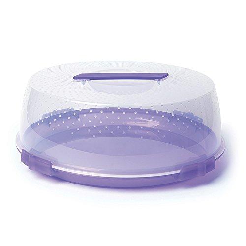 Excelsa Boîte en Plastique pour Transporter des tartes, 32 cm Lilas