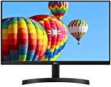 LG 24MK600M-B - Monitor FHD de 60,4 cm (23,8') con Panel IPS (1920 x 1080 píxeles, 16:9, 250 cd/m², NTSC 72%, 1000:1, 5 ms, 75 Hz) Color Negro