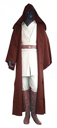 shoperama Star Wars Herren Kostüm - Obi-Wan Kenobi Komplettset - Mantel Gewand Umhang Cape Jedi, Größe:M