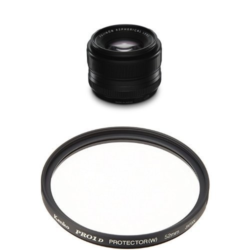 FUJIFILM 単焦点標準レンズ XF35mmF1.4 R & Kenko 52mm レンズフィルター PRO1D プロテクター レンズ保護用 薄枠 日本製 252512