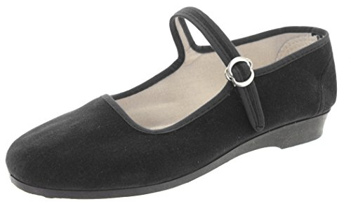 MIK Funshopping Samt-Ballerina China Flat Black 41