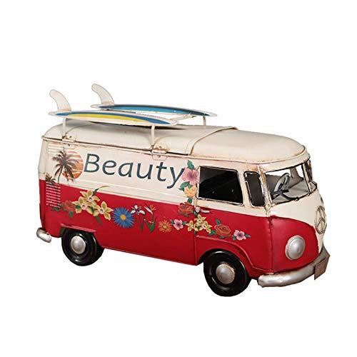 ABWYB Caja de pañuelos de Hierro de autobús Vintage, dispensador de pañuelos, Caja de servilletas, dispensador de Toallas de Papel, Porta pañuelos, decoración Interesante para el hogar y la oficin