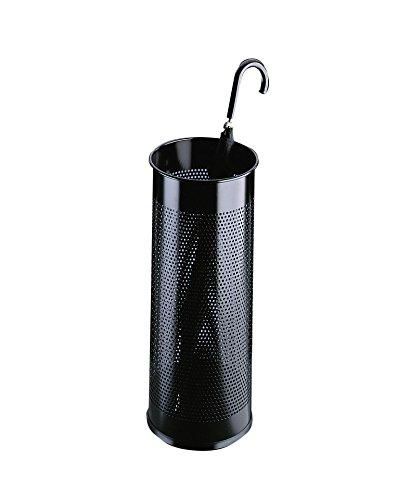 Durable 335001 Porte-Parapluies Avec Perforations 28,5 litres Hauteur 62 cm en Métal Coloris Noir