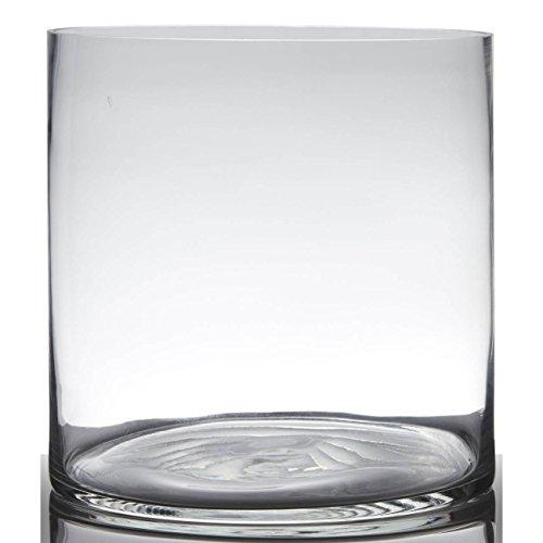 Hakbijl Dekoglas, Vase Zylinder H. 25cm D. 25cm transparent rund Glas