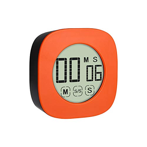 Digital Kitchen Timer for Cooking, Cooking Minute Second Timer Alarm Clock, Large LED Display, Loud Alarm, Magnetic Attaching/Stand, Suit for Cooking Baking Sports Games