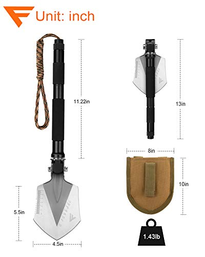 FiveJoy Folding Shovel Multitool (C1)