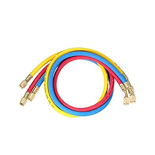 YANYAN Ring Store 3pcs 1/4' SAE.Universale R12 R22 R502.Il Calibro del collettore Imposta i Tubi di Ricarica a Tre Colori Adatti HVAC.Refrigerante di Aria condizionata