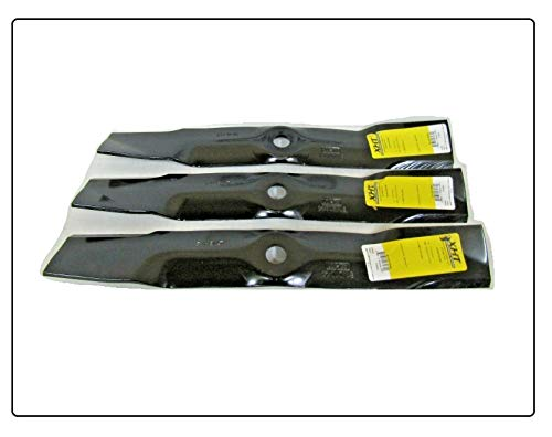 "(New) 3 USA XHT Blades Compatible with John Deere 48"" Cut LX279 LX280 LX288 LX289 SST18 X300 X320 (Other Models in Description + Free Useful Ebook) -  LM REPL NEW PARTS"