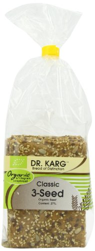 Dr Karg Classic 3 Seed Organic Wholegrain Crispbread 200 g (Pack of 8)