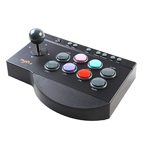 Arcade Joystick PXN 0082 Arcade Fight Stick, Street Fighter Arcade-Spiel Kampf Joystick-Controller mit USB Port, Turbo & Macro Funktionen für PS3, PS4, Xbox ONE, Nintendo Switch, PC