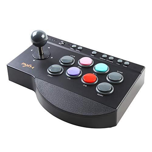 PXN 0082 Arcade Fighting Stick USB Street Fighter Arcade de Juegos Joystick de Lucha Controlador con Funciones Turbo y Macro para PS3, PS4, Xbox ONE, Nintendo Switch, PC