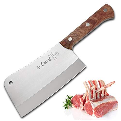 SHI BA ZI ZUO Heavy Duty Cleaver Butcher Knife for Chopping Bones