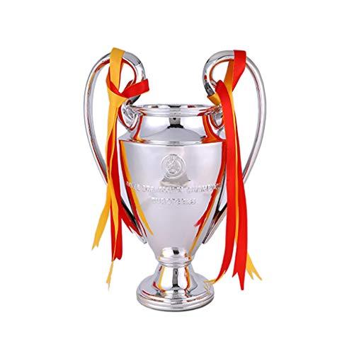 Trofei Champions League d'oro Campione Manchester United Real Madrid Messi C Ronaldo Zidane Miglior Regalo Medaglia Modello (Color : Silver-A, Size : 46 * 31 * 24cm)