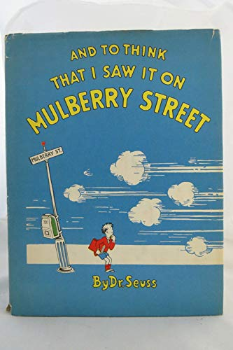 Rare - Dr Seuss TO THINK THAT I SAW IT ON MULBERRY STREET 1937 First Edition 16th Print