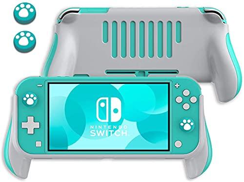 Lammcou Griff Halterung für Nintendo Switch Lite 2019, Switch Lite Hand Grips & Cat Claw Design Thumb Grip Kappen Nintendo Switch Lite Ergonomischer Handheld Halter -Blau