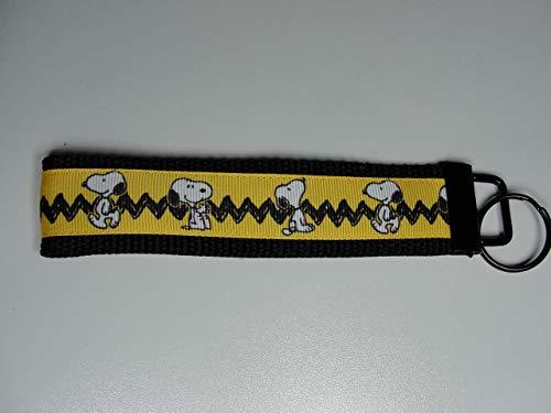 Peanuts Snoopy Charlie Brown Chevron Stripe Key fob Strap or Keychain - Purse or Wallet Strap Wristlet