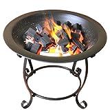 LXVY Feuerschale Pit Basket Edelstahl-Garten-Grill Brazier BBQ Eisenofen Vertikal Hob Grill