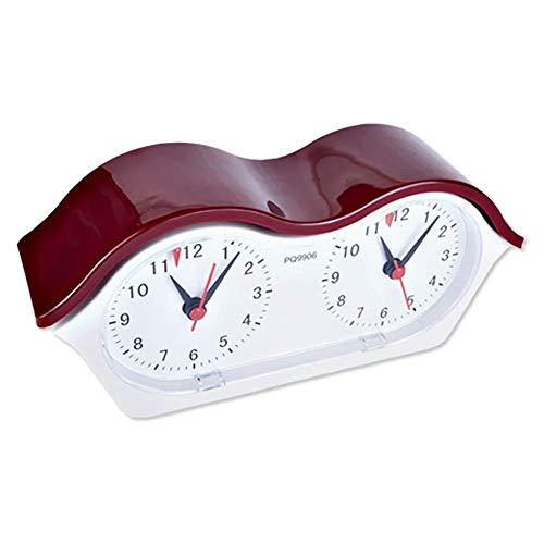 DFJU Reloj de ajedrez Reloj de ajedrez electrónico Cronógrafo Cronómetro Ajedrez/Reloj Go Suministros de competición Temporizador de ajedrez para competición de Juegos