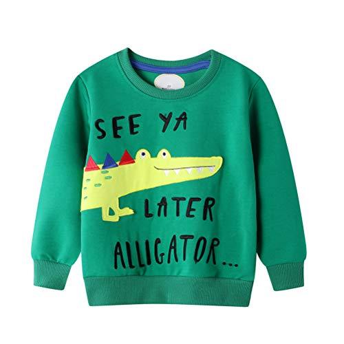 Neborn Suéter de niño pequeño de Punto Patrón de cocodrilo de Dibujos Animados Casual Algodón cálido Jersey de suéter para niños Otoño Invierno Suéter Grueso