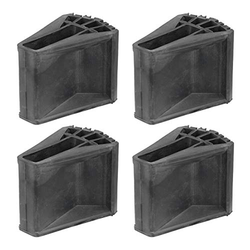 Scicalife 4 Piezas de Escalera Telescópica Antideslizante Pies de Goma de Repuesto Escalera de Pie Mat/Kit de Zapatos/Almohadillas de Pie/Cubierta