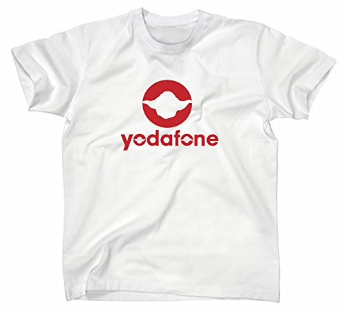 Yodafone Fun T-Shirt, Star Wars, Jedi Ritter Vodafone, Weiss, XL