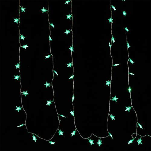 SOLUSTRE Saint Valentin Chaîne Lumière LED Étoile Fée Chaîne Lumière Ciel Étoilé Guirlande Lumineuse pour Mariage Extérieur Jardin Intérieur Patio Fête Décoration D'arbre (Prise
