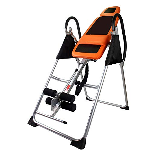 Best Buy! Inversion Table Premium Foldable Gravity Inversion Table Waist Inflatable Adjustment With ...