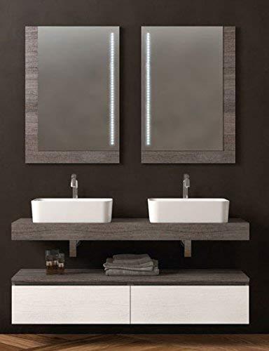 dafnedesign. com - Meuble de salle de bain, miroir avec éclairage à lED - Made in Italy