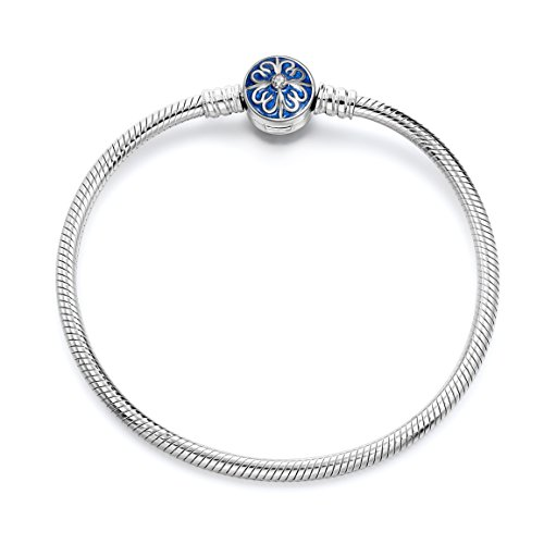 Bracelets, 925 Sterling Silver Snake Chain Basic Charm Bracelet Long Way Fine Jewelry for Women, Best for Girlfriend Wife Mother,7.5Inch