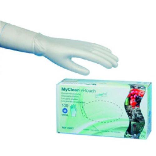 MaiMed MyClean vi-touch Vinylhandschuhe - M Einmal-Vinylhandschuhe, puderfrei - 100 Stück
