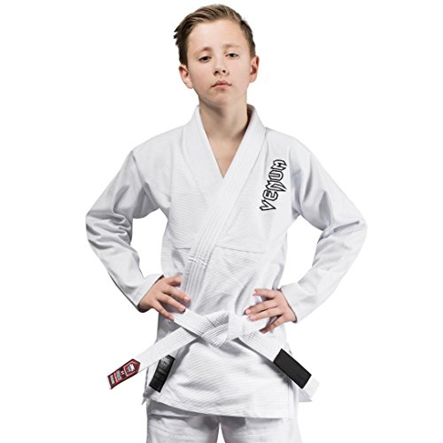 Venum Contender Kimono, Unisex niños, Blanco, L/C2