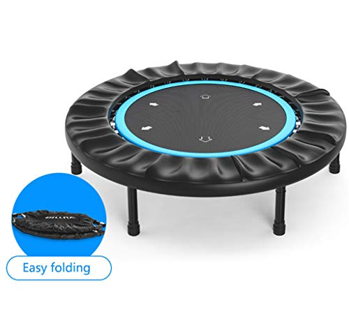 LKFSNGB Sport-trampoline, 45 inch, opvouwbaar, voor volwassenen, fitness trampoline, 360 graden veiligheidsplaat, aerobic, voor binnen, draagkracht 150 kg