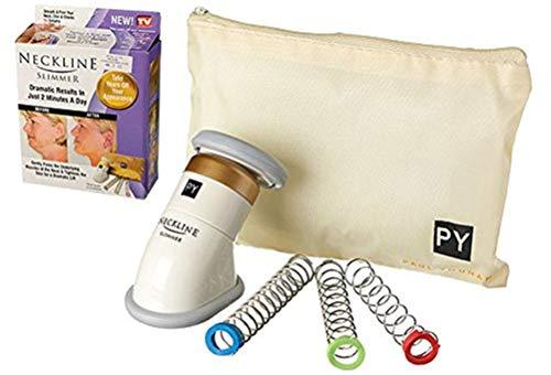Premium Neckline Slimmer Anti-Doppelkinn Massagegerät (3 Trainingsstufen) Anti Doppelkinn Massage - Kinnmassager Gesichtsmassage Massageroller Massager