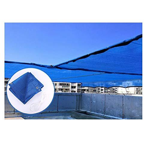 JIANFEI Balkon Markise Sichtschutz Zaun Sichtschutzwand, Terrasse Sonnenschutz Isolationsnetz Verdicken Grüne Pflanzen Draussen Schattennetz, 56 Größen (Color : Blue, Size : 1.5x8m)