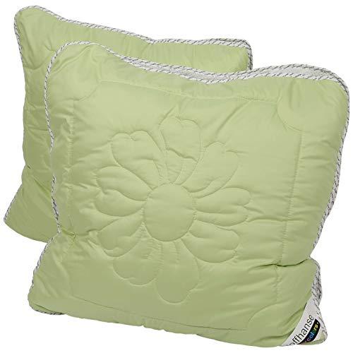 Stoffhanse Kissen 80 x 80 cm, 2er Set grün | Bettwaren | Kopf-Kissen | nach Öko-Tex Standard