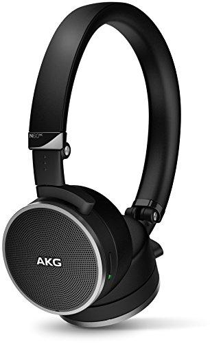 AKG N60NC erstklassiges On-Ear Kopfhörer mit Geräuschunterdrückung und Reiseetui - Schwarz (Alter Stil)