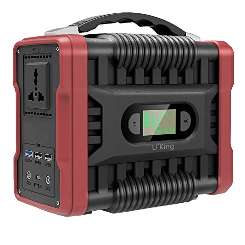 UKing Portable Power Generator 222Wh/60000mAh Power Station Power Supply with DC/AC Inverter Charged by Solar Panel/Wall Outlet for Solar Generator Outdoor Camping Travel Emergency Backup