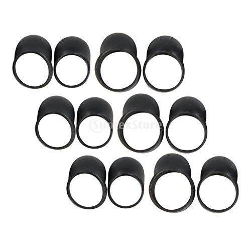 perfeclan 12 Piezas Hand Pan Tongue Drum Mangas Negras para Dedos Cubierta para Púas para Dedos, Fácil de Tocar
