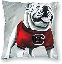 antcreptson UGA Georgia Bulldogs Mascot Pillow Cover Standard Throw Pillowcase 18X18 Inch