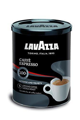 Lavazza -ESPRESSO gemalen koffie in blik – Ideaal om te delen met vrienden – 250 g espressosmaak