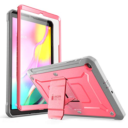 SUPCASE Unicorn Beetle Pro Series Case Designed for Galaxy Tab A 10.1 (2019 Release), Full-Body Rugged Heavy Duty Protective Tablet Case with Built-in Screen Protector (Pink)