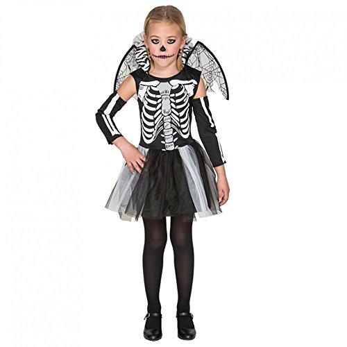 Fyasa 706459-T01 - Disfraz de esqueleto para niña de 4 a 6 años, multicolor, mediano