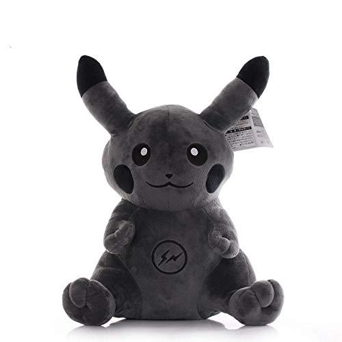 Cuina Pokemon Fujiwara Hiroshi CO-CHELLED Dark Black Pikachu Anime Figuras PP Algodón Peluche Corto 40 cm yuechuang