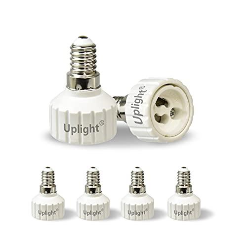 Uplight Adaptador E14 a GU10,Conversor Bombilla E14 a GU10,E14 Socket Convertidor,0-250V,Potencia Máxima...