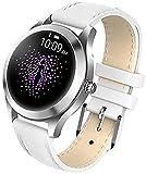 Hombres s y mujeres s relojes inteligentes IP68 impermeable OLED táctil compatible con Android e Iphone Huawai y otros dispositivos móviles Relojes redondos