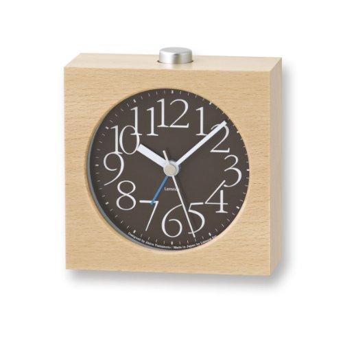 Lemnos LA10-07 AY Alarm Clock, braun