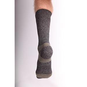 Incrediwear Trek Socks Crew, Charcoal/Green, Large, 0.03 Pound