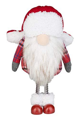 Idena 31865-Figura Decorativa chapka, tamaño Aprox. 32 cm, Duende de Navidad, Invierno, gnomo, Papá Noel. (31865)